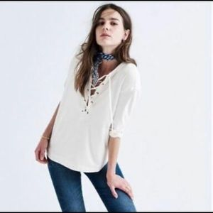 Madewell Lace Up Libra Sweatshirt